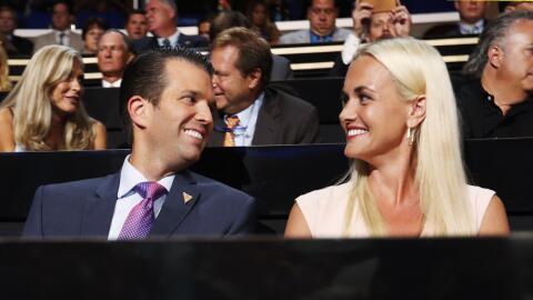 Donald Trump Jr. y su esposa, Vanessa Trump.