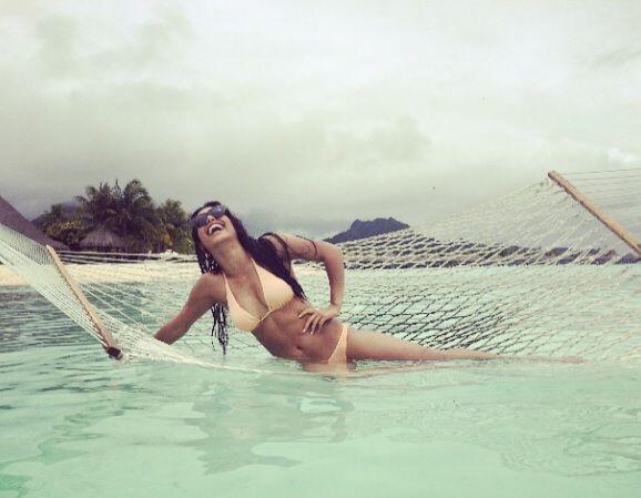 ¡Qué tal! Ella y su hija la pasaro chevere nadando con tibu...