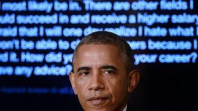 El presidente Obama dice que su mayor frustración como mandatario es la...
