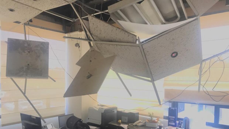 Oficina en el sur de México después del sismo