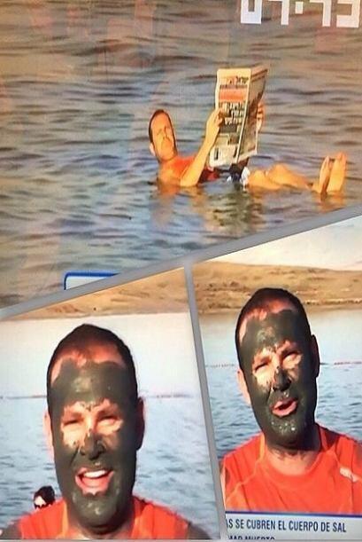 """Que gran momento!! El mar muerto en Israel .. Shalom!! @amvoicesnisrael..."