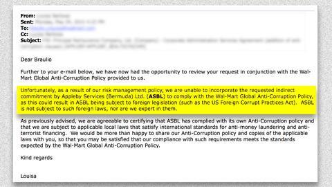 Una funcionaria de Appleby explicó en un mensaje, por qué...