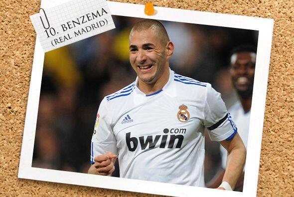 Nuestro centrodelantero es el francés Karim Benzema.