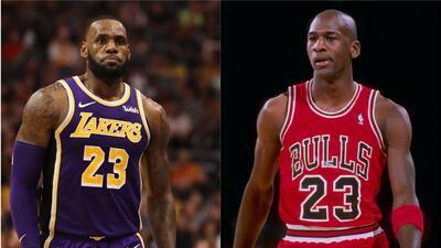 LeBron y Jordan 'se retan' mutuamente para ver quién es el mejor de todos los tiempos