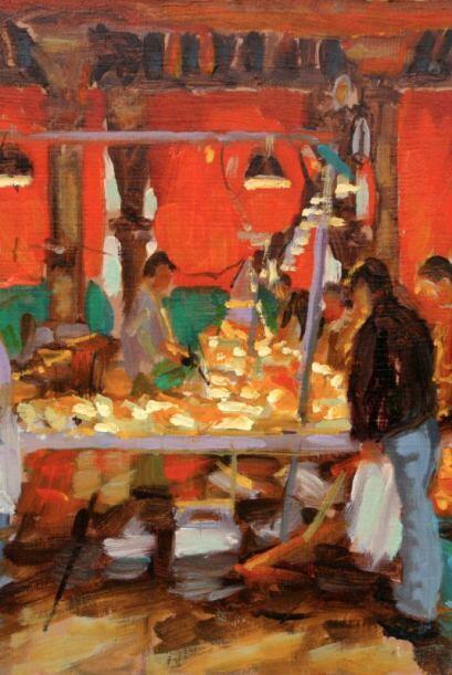 Para muestra estas bellas pinturas que realizó.