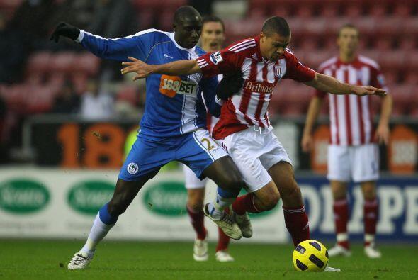 Wigan y Stoke City repartieron puntos y terminaron 2 a 2.