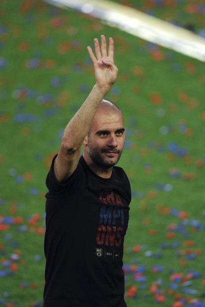 Josep Guardiola agradeció el apoyo de la gente y recordó las cuatro 'Cha...