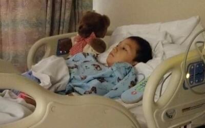 Alejandro Hernández en el hospital.