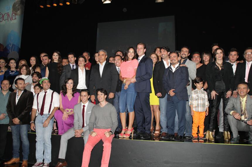 """Así se presentó el elenco de """"La Vecina"""""""