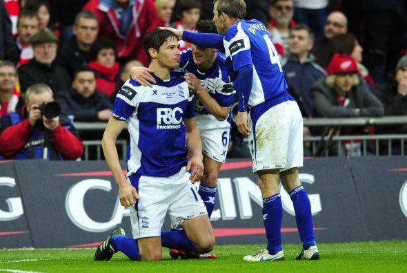 El atacante Nicola Zigic puso las cosas 1-0.