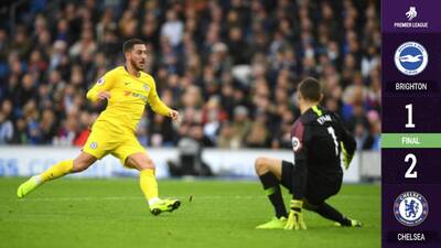 Con un genial Eden Hazard, Chelsea se impuso 2-1 al Brighton & Hove Albion