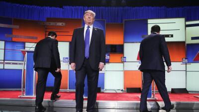 Donald Trump, Marco Rubio y Ted Cruz en