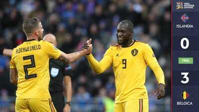 Sin meter el acelerador, Bélgica goleó a Islandia