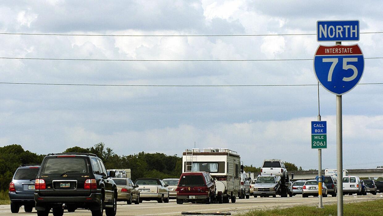 La I-75 fue la autopista utilizada para evacuar el sur de Florida. Ahora...