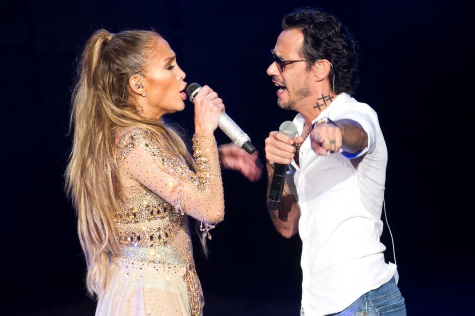 Jennifer López invitó a su exesposo Marc Anthony a cantar con ella duran...