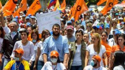 Jóvenes en huelga de hambre también participaron.