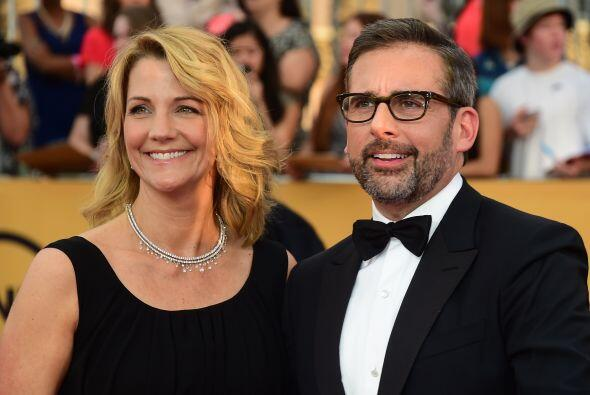 Steve Carell, nominado por 'Foxcatcher' y su esposa Nancy.