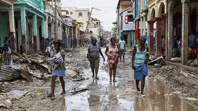 En fotos: El suroeste de Haití devastado por el huracán Matthew