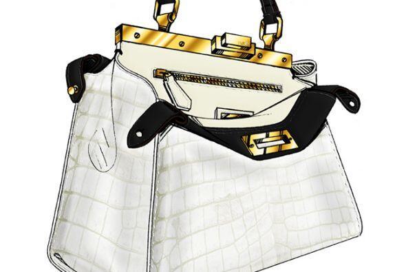 La actriz Gwyneth Paltrow imaginó un sobrio bolso blanco. (Imagen de Fen...