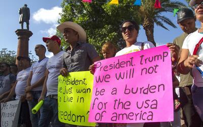 """""""Presidente Trump: No seremos una carga para EEUU"""", se puede l..."""