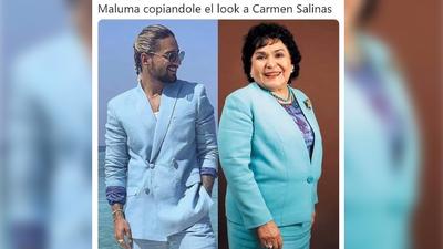 """EN MEMES: Maluma aprendió que """"el que quiere azul celeste, que le cueste"""""""