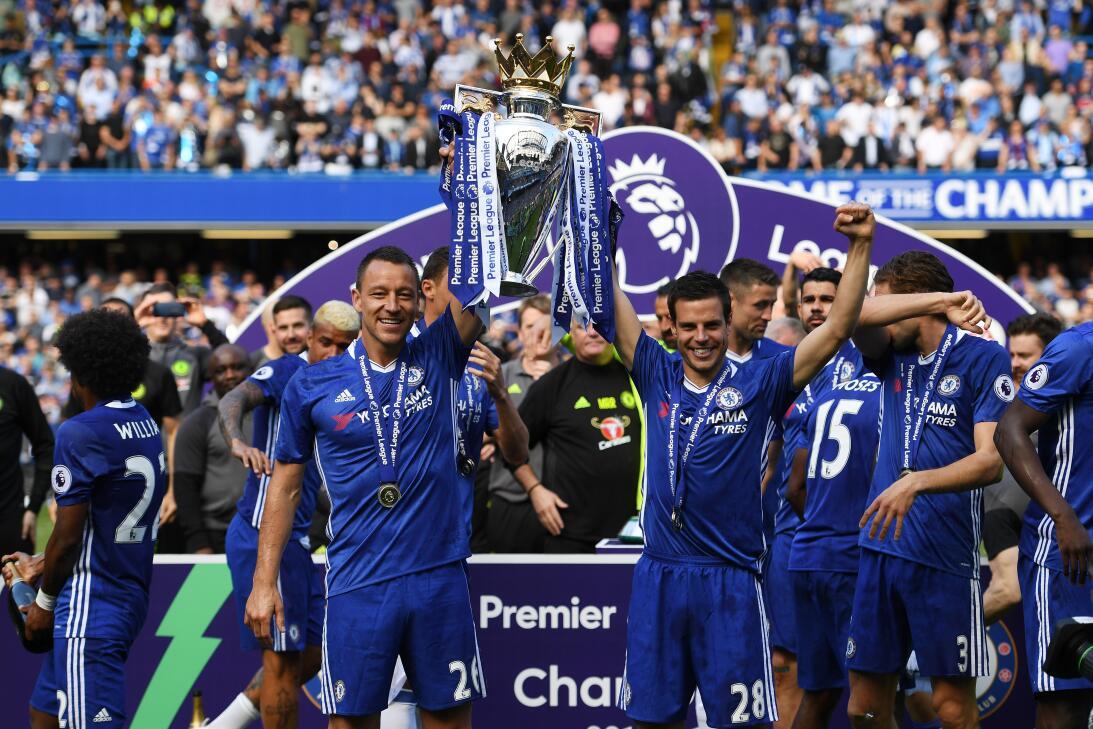 2. Chelsea (2016/2017) - 93 puntos y +52 en la diferencia de gol. Fueron...