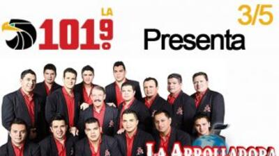 ¡LA 101.9 presenta a la Arrolladora en concierto privado este 5 de marzo!