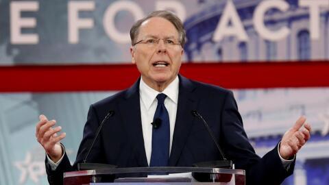 El CEO de la Asociación Nacional del Rifle (NRA), Wayne LaPierre,...