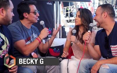Becky G dirige un mensaje a los 'milenios' durante entrevista en 'RiseUp...