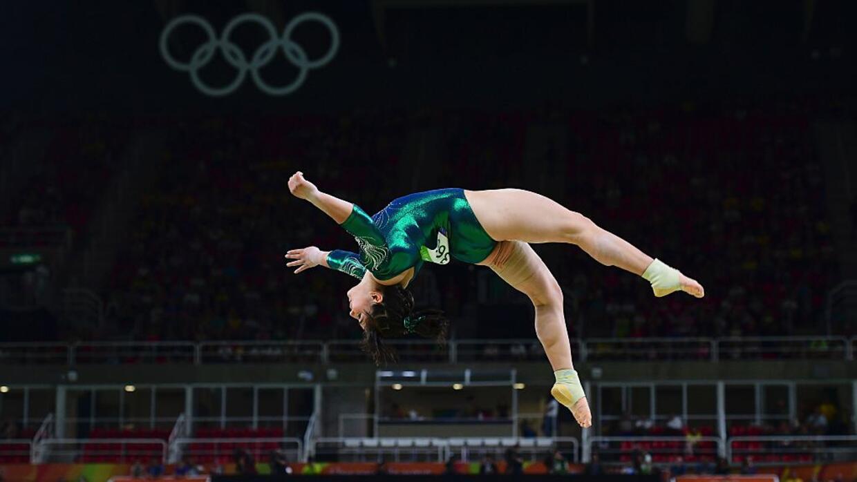 La gimnasta mexicana Alexa Moreno, de 22 años, la única representante de...