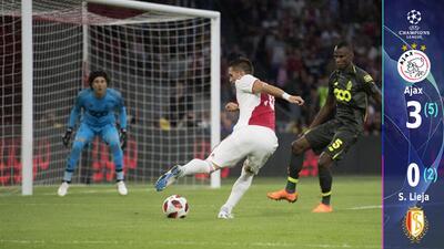 Ajax vapuleó el sueño de Champions de 'Memo' Ochoa