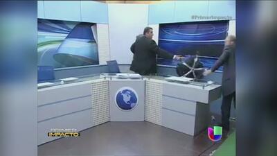 Estalla la violencia en un estudio de televisión