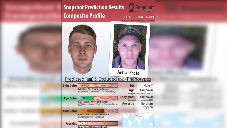 Parabon Nanolabs creó este perfil en base a un análisis del ADN encontra...