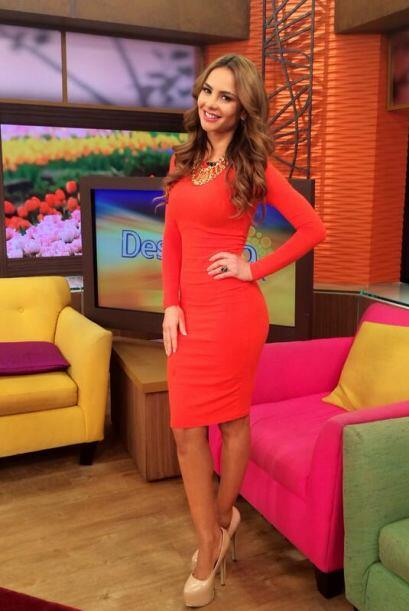 """La fotico del look de hoy en @DespiertaAmeric"", mostró Ximena. (Abril 1..."