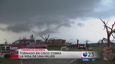 Muere mujer en Cisco por tornado