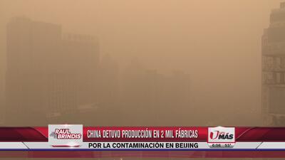 Fuerte contaminación en Beijing