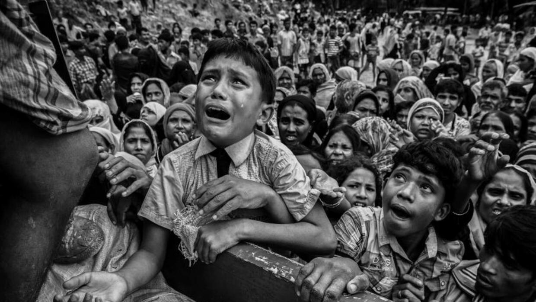 Refugiados rohingya en Cox's Bazar, Bangladesh.