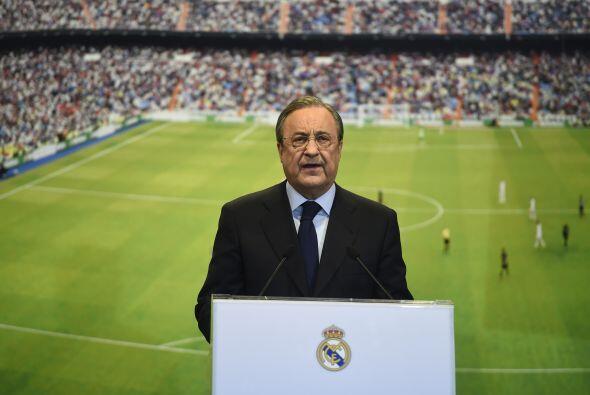 Florentino Pérez, presidente del Real Madrid, fue el encargado de...