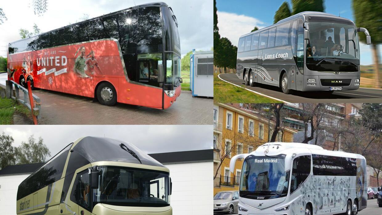 Estos son los autobuses de los grandes clubes del fútbol europeo