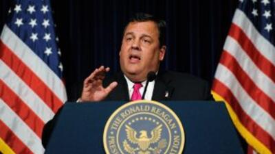 Gobernador de Nueva Jersey, Chris Christie.