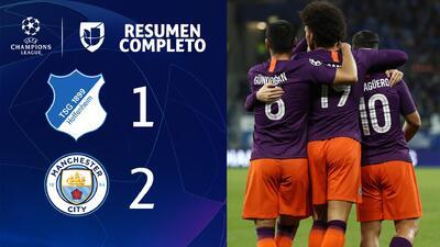 Hoffenheim 1-2 Manchester City - GOLES Y RESUMEN - Grupo F UEFA Champions League