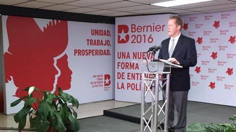 David Bernier en conferencia de prensa