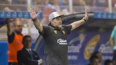 """Maradona elogió a sus jugadores y aseguró que """"el trabajo calla voces"""""""