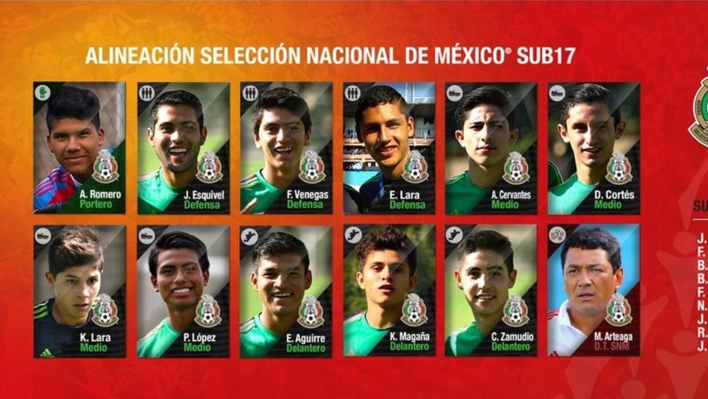 Alineación de México ante Nigeria