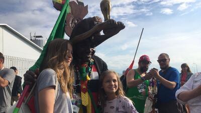 En fotos: Polonia y Senegal dicen presente en la fiesta de hinchas en el Mundial