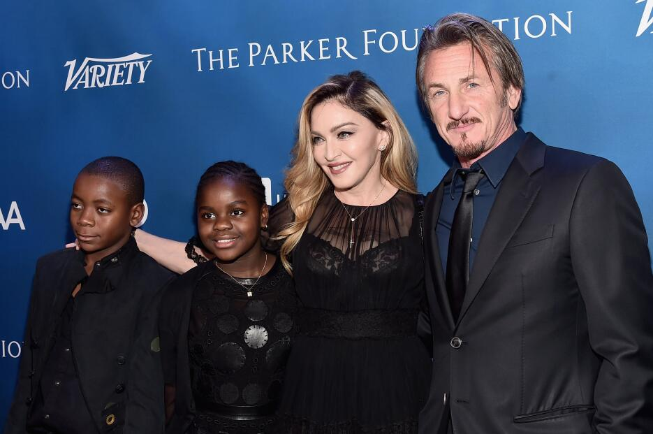 Madonna's kids David Banda, Mercy James, musician Madonna and host S...