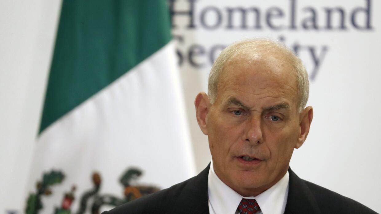 John Kelly, secretario de Seguridad Nacional, concluye una visita de tre...