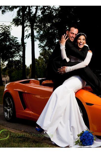 Una imagen del día de la boda. Audris es una mujer fuerte pero en la ent...