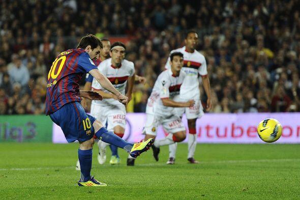 Messi no falló y se sacó la mufa. El argentino se reencontro con el gol.