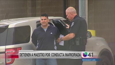 Maestro arrestado por sexo con menor